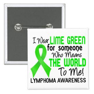 Significa el mundo a mí el linfoma 2 pin cuadrado