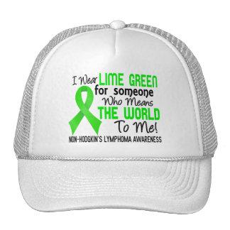 Significa el mundo a mí el linfoma Non-Hodgkin 2 Gorros Bordados