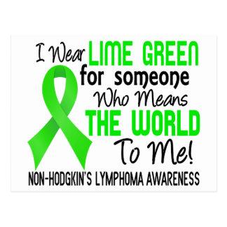 Significa el mundo a mí el linfoma Non-Hodgkin 2 Tarjeta Postal