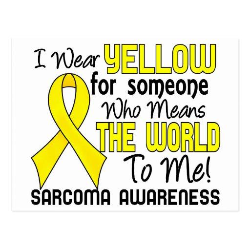 Significa el mundo a mí el sarcoma 2 tarjetas postales