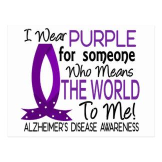 Significa el mundo a mí enfermedad de Alzheimer Postales