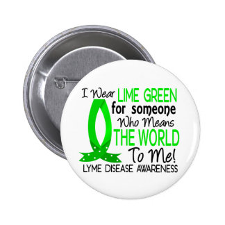 Significa el mundo a mí enfermedad de Lyme Pin Redondo De 2 Pulgadas