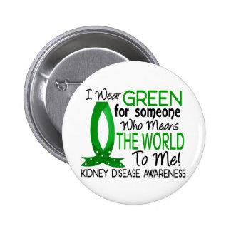 Significa el mundo a mí enfermedad de riñón pin redondo de 2 pulgadas