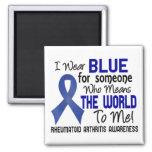 Significa el mundo a mí la artritis reumatoide 2 iman de frigorífico