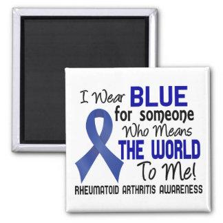 Significa el mundo a mí la artritis reumatoide 2 imán cuadrado