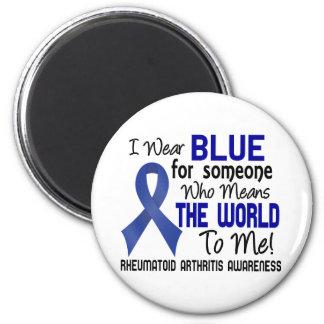 Significa el mundo a mí la artritis reumatoide 2 imán redondo 5 cm