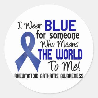 Significa el mundo a mí la artritis reumatoide 2 pegatina redonda