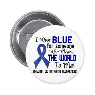 Significa el mundo a mí la artritis reumatoide 2 pin redondo de 2 pulgadas