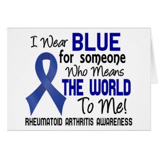 Significa el mundo a mí la artritis reumatoide 2 tarjeta de felicitación