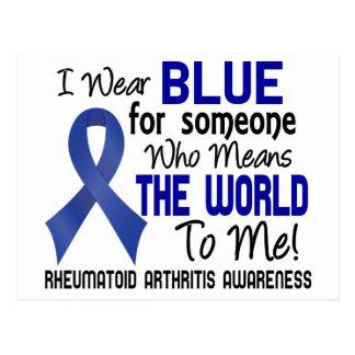 Significa el mundo a mí la artritis reumatoide 2 tarjeta postal