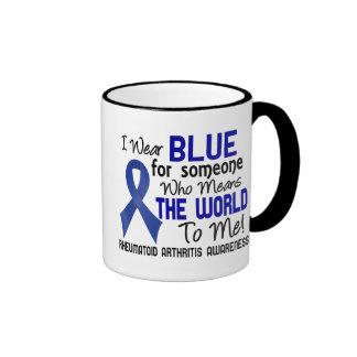 Significa el mundo a mí la artritis reumatoide 2 taza de dos colores