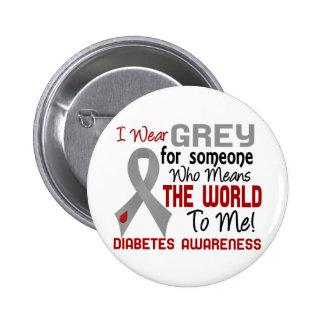 Significa el mundo a mí la diabetes 2 pin redondo de 2 pulgadas
