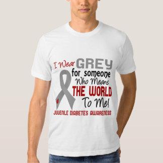 Significa el mundo a mí la diabetes juvenil 2 camisas