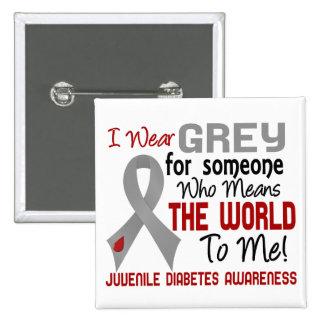 Significa el mundo a mí la diabetes juvenil 2 pin cuadrado