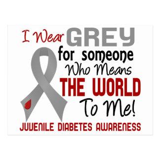 Significa el mundo a mí la diabetes juvenil 2 postales