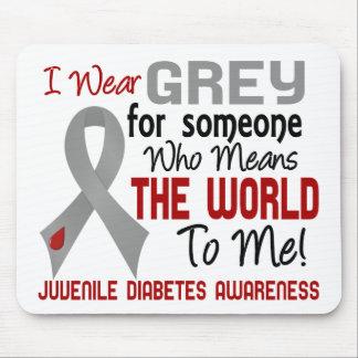 Significa el mundo a mí la diabetes juvenil 2 tapetes de raton