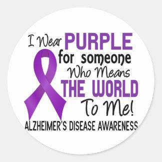 Significa el mundo a mí la enfermedad de Alzheimer Pegatinas