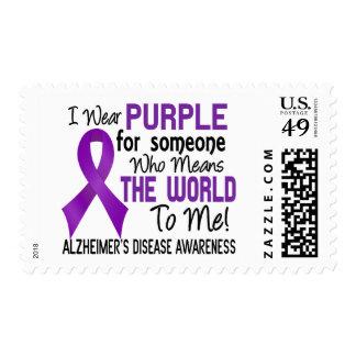 Significa el mundo a mí la enfermedad de Alzheimer Sellos