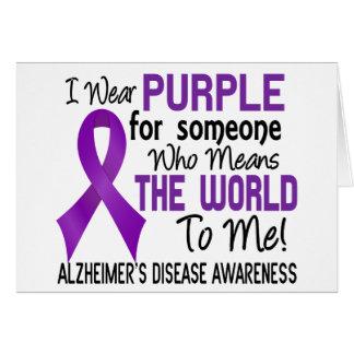 Significa el mundo a mí la enfermedad de Alzheimer Tarjeta De Felicitación