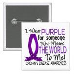 Significa el mundo a mí la enfermedad de Crohn Pins