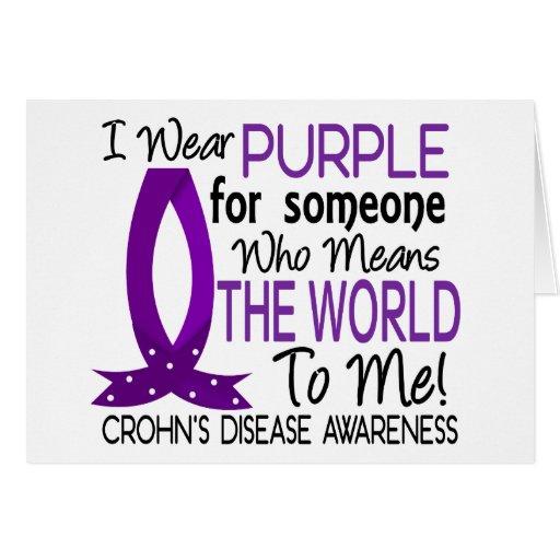 Significa el mundo a mí la enfermedad de Crohn Felicitación