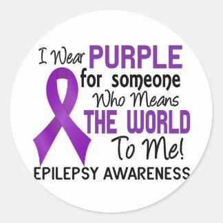 Significa el mundo a mí la epilepsia 2 pegatina redonda