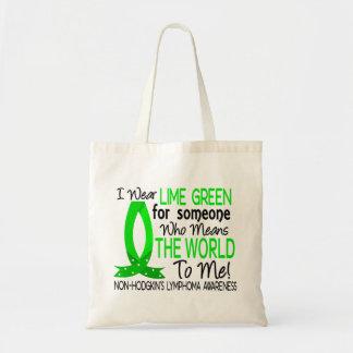 Significa el mundo a mí linfoma Non-Hodgkin Bolsas De Mano