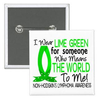 Significa el mundo a mí linfoma Non-Hodgkin Pin Cuadrado