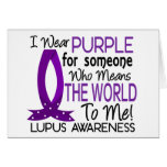 Significa el mundo a mí lupus felicitación