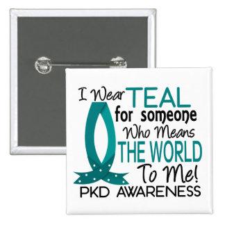 Significa el mundo a mí PKD Pin Cuadrado