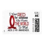 Significa el mundo a mí SIDA