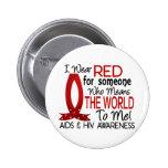 Significa el mundo a mí SIDA Pin