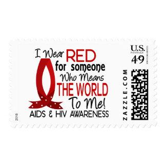 Significa el mundo a mí SIDA Sello