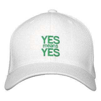 Significa SÍ SÍ - la gorra de béisbol adaptable