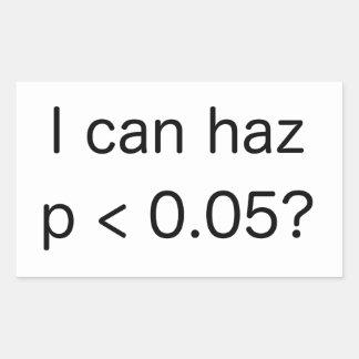 ¡Significación estadística p < 0,05 para la Pegatina Rectangular