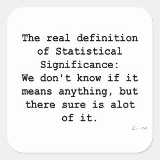 Significación estadística pegatina cuadrada