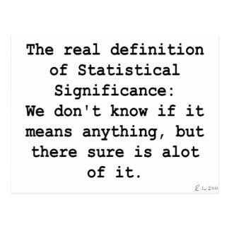 Significación estadística postal