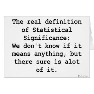 Significación estadística tarjeta de felicitación