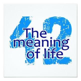 Significado 42 de la invitación de la vida,