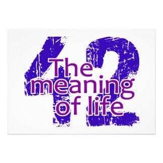 Significado 42 de la invitación de la vida person
