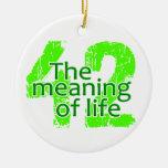 Significado 42 del ornamento de la vida, personali ornaments para arbol de navidad
