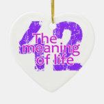 Significado 42 del ornamento de la vida, personali ornamentos de navidad