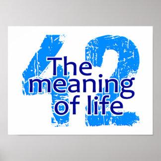 Significado 42 del poster de la vida, personalizab
