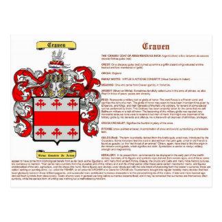 significado craven tarjeta postal