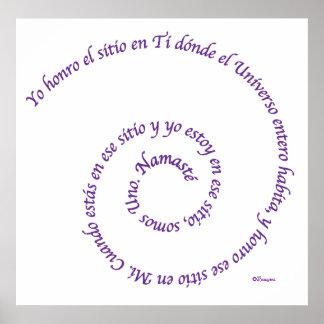Significado de en Español de Namaste Poster