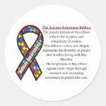 Significado de la cinta del autismo etiqueta redonda