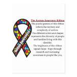 Significado de la cinta del autismo postales