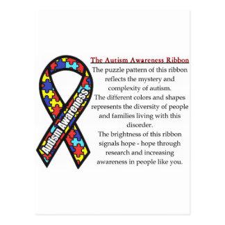 Significado de la cinta del autismo postal