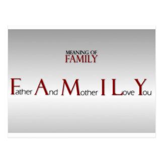 Significado de la postal inspirada de la familia