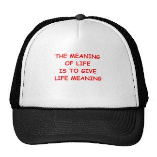 significado de la vida gorros bordados